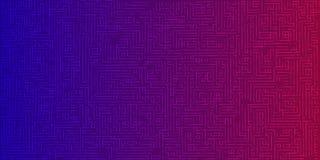 Fondo astratto di colore dalle linee Labirinto futuristico per la d illustrazione di stock
