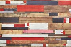 Fondo astratto di colore e degli elementi di legno Immagine Stock Libera da Diritti