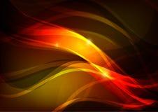 Fondo astratto di colore rosso con le onde brillanti royalty illustrazione gratis