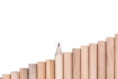Fondo astratto di concetto dalle matite Fotografia Stock Libera da Diritti