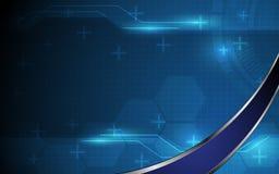 Fondo astratto di concetto dell'innovazione di tecnologia di eco di vettore Immagine Stock