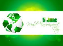 Fondo astratto di concetto di Giornata mondiale dell'ambiente, Fotografia Stock Libera da Diritti