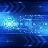 Fondo astratto di concetto di tecnologia digitale, illustrazione di vettore Immagini Stock