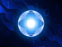 Fondo astratto di concetto di tecnologia Illustrazione di vettore Fotografia Stock