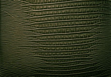Fondo astratto di cuoio verde Fotografie Stock