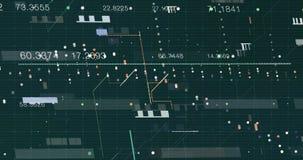 Fondo astratto di dati della rete digitale, rappresentazione 3D stock footage