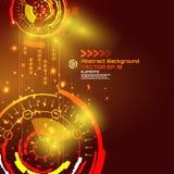 Fondo astratto di fantascienza per progettazione alta tecnologia futuristica - vettore illustrazione di stock