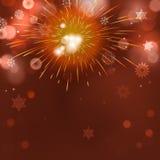 Fondo astratto di festa con i fuochi d'artificio Fotografia Stock