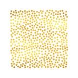 Fondo astratto di festa con le particelle disegnate a mano Modello dorato luminoso della struttura del quadrato del pois Vettore Fotografia Stock