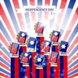 Fondo astratto di festa dell'indipendenza royalty illustrazione gratis