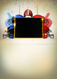 Fondo astratto di football americano Fotografie Stock