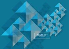 Fondo astratto di forme multicolori futuristiche di geometrics di tecnologia copertura del manifesto di Ciao-tecnologia royalty illustrazione gratis