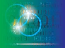 Fondo astratto di informazioni con il codice binario Tecnologia verde immagini stock libere da diritti