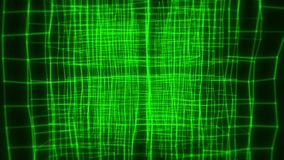 fondo astratto di introduzione di moto del ciclo di animazione VJ del cubo di verde 3D illustrazione vettoriale