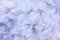 Fondo astratto di inverno con la caduta dei fiocchi della neve Immagini Stock