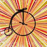 Fondo astratto di jazz con la retro bicicletta Fotografia Stock Libera da Diritti