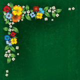 Fondo astratto di lerciume con i fiori della molla Immagini Stock Libere da Diritti
