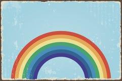Fondo astratto di lerciume con l'arcobaleno Vettore illustrazione vettoriale