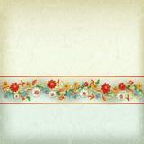 Fondo astratto di lerciume con l'ornamento floreale Immagine Stock