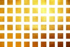 Fondo astratto di lusso brillante di struttura dorata quadrata del modello Elemento di disegno Fotografia Stock