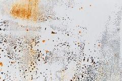 Fondo astratto di metallo dipinto arrugginito Immagine Stock Libera da Diritti