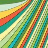 Fondo astratto di molti strati di carta variopinti Fotografia Stock