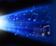 Fondo astratto di musica Immagini Stock Libere da Diritti