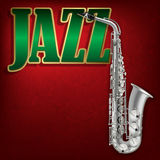 Fondo astratto di musica di lerciume con jazz ed il pianoforte a coda di parola Fotografie Stock
