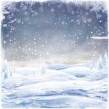 Fondo astratto di Natale con i fiocchi di neve illustrazione di stock