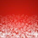 Fondo astratto di Natale con i fiocchi di neve bianchi illustrazione di stock