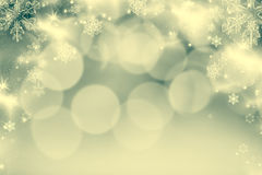 fondo astratto di Natale con le luci di festa Fotografie Stock Libere da Diritti