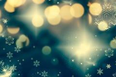fondo astratto di Natale con le luci di festa immagine stock