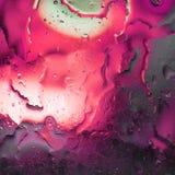 Fondo astratto di olio misto con acqua Fotografie Stock Libere da Diritti