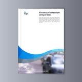 Fondo astratto di progettazione dell'aletta di filatoio modello dell'opuscolo Immagini Stock