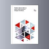 Fondo astratto di progettazione dell'aletta di filatoio modello dell'opuscolo Fotografia Stock Libera da Diritti