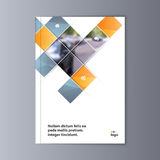 Fondo astratto di progettazione dell'aletta di filatoio modello dell'opuscolo Immagine Stock Libera da Diritti