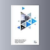 Fondo astratto di progettazione dell'aletta di filatoio modello dell'opuscolo Fotografia Stock