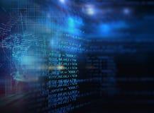 Fondo astratto di programmazione di tecnologia di codice dello sviluppatore di software Immagine Stock Libera da Diritti