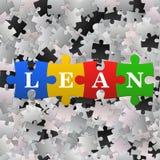 Fondo astratto di puzzle con la magra di parola Immagini Stock Libere da Diritti