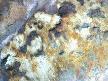 Fondo astratto di roccia minerale ferruginosa immagine stock