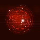 Fondo astratto di rosso del cerchio Fotografia Stock