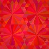 Fondo astratto di rosso del triangolo Fotografia Stock