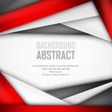 Fondo astratto di rosso, di bianco e del nero illustrazione di stock