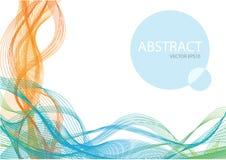 Fondo astratto di struttura di Wave di colore Fotografie Stock Libere da Diritti