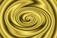 Fondo astratto di struttura dorata liquida metallica nei turbinii Fotografia Stock