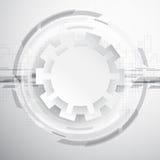 Fondo astratto di tecnologia con gli ingranaggi Fotografie Stock