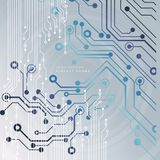 Fondo astratto di tecnologia con i vari elementi tecnologici Illustrazione di vettore Fotografia Stock