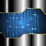 Fondo astratto di tecnologia con il circuito Fotografie Stock