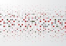 Fondo astratto di tecnologia con il confine rosso e grigio p del cerchio illustrazione vettoriale