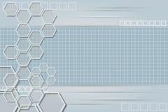 Fondo astratto di tecnologia con la griglia 4 Immagine Stock Libera da Diritti